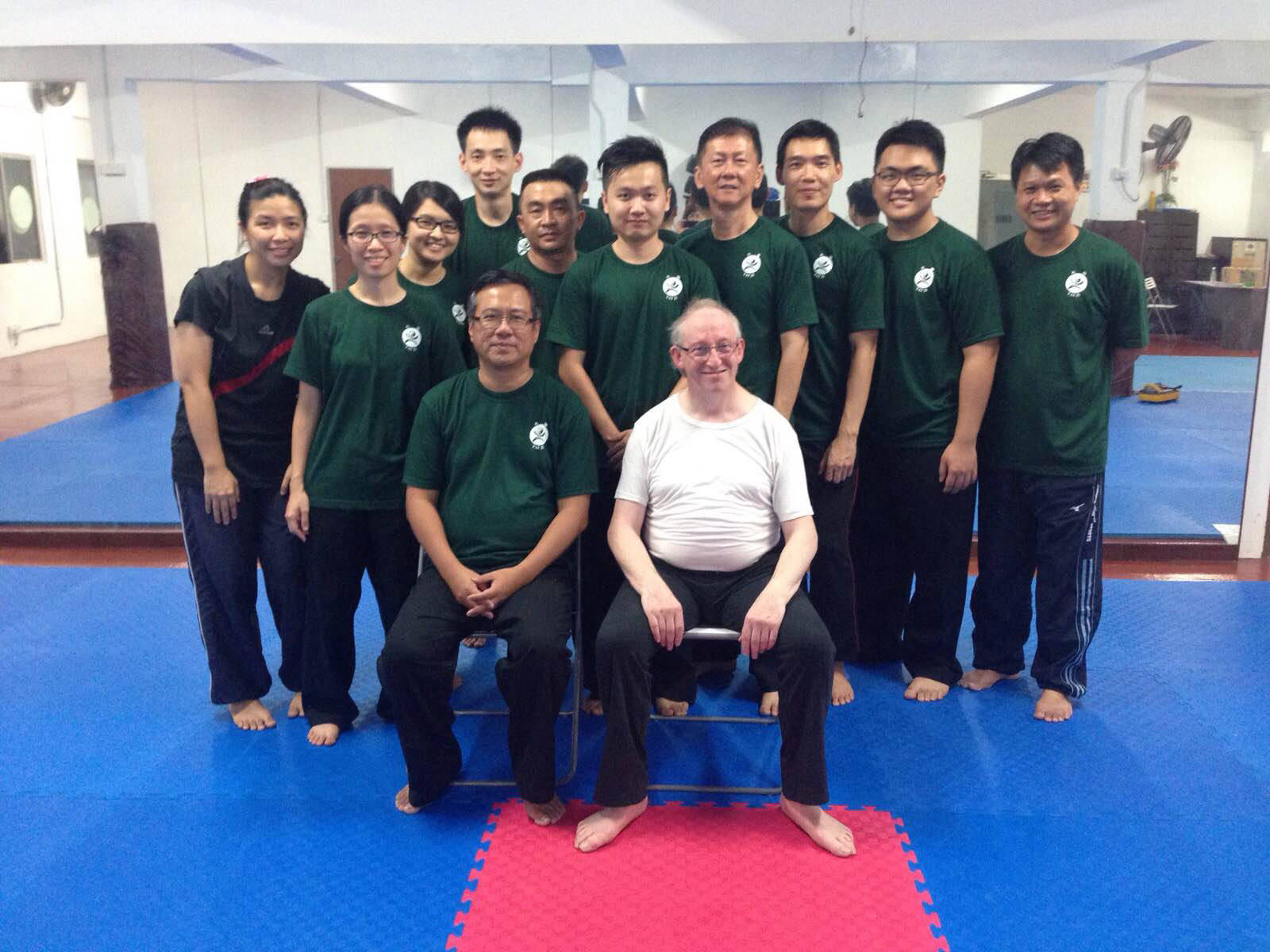 Group Photo at Dr Tim Song's Tai Chi school